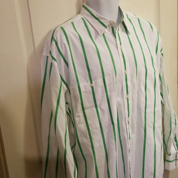 Vintage Brooks Brothers men/'s striped long sleeve shirt Size large
